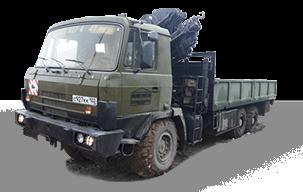 Вездеход Tatra 815 с краном-манипулятором
