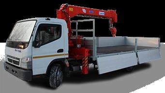 Mitsubishi 5 тонн с краном-манипулятором